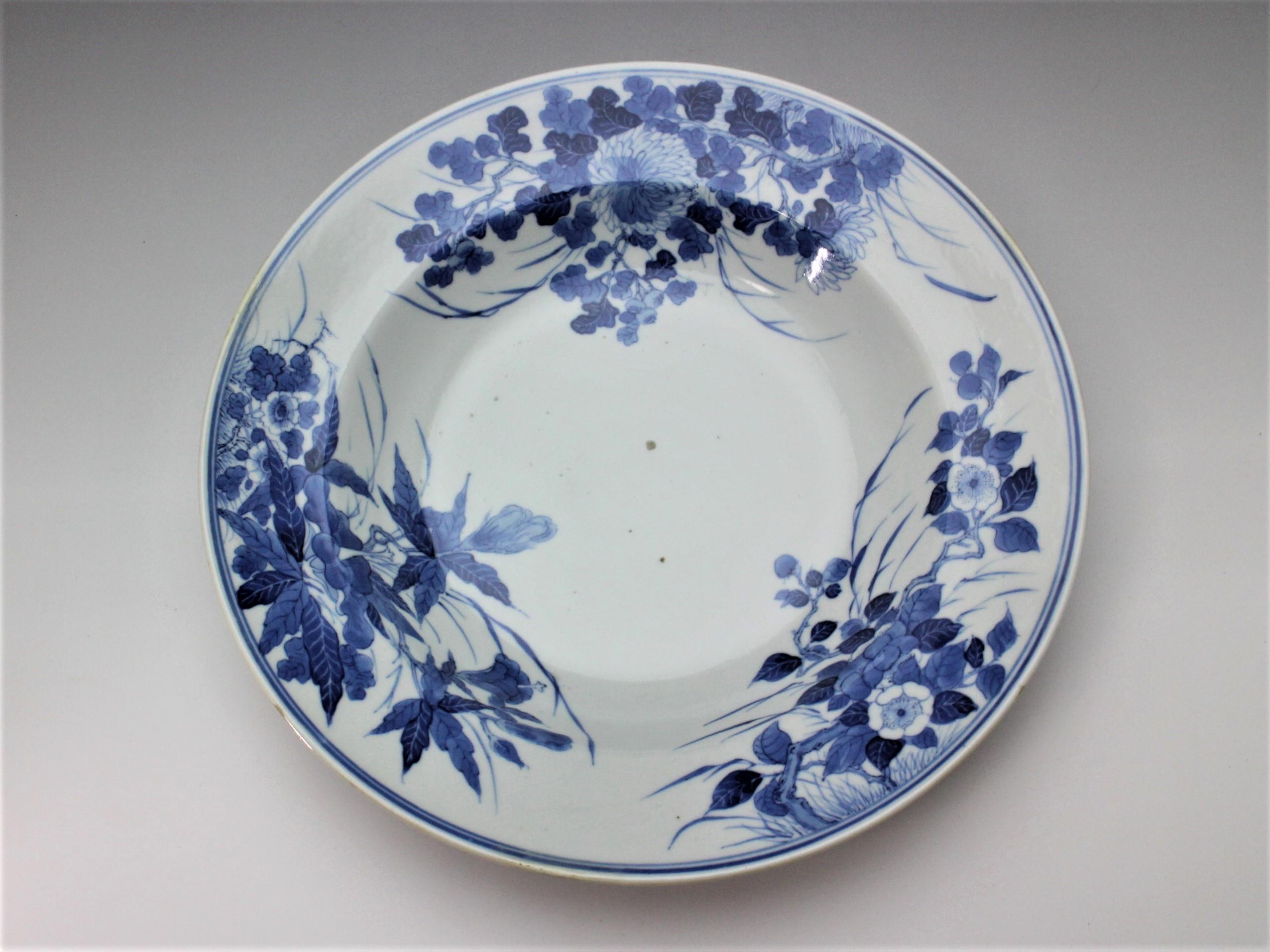 清朝期青華皿